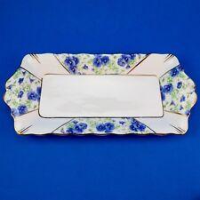 "Royal Albert Blue Pansy Sandwich Plate 10 1/2"""