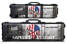Thickest & Tuffest 24mil Wrap for Pelican 1720 Hard Gun Case Foam USA AMMO SKULL