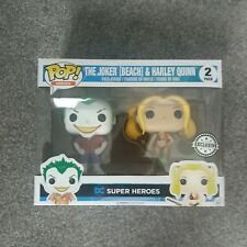 funko pop dc super heroes beach jomer and harley quinn 2 pack exclusive