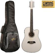 Oscar Schmidt OD312CEWH 12-Strings A/E Guitar - White, W/Gigbag, OD312CEWH BAG