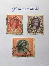 3 Timbres Rhodésia-Nyassaland oblitérés. YT GB-RH 4/8/12, Mi : GB-RH 5/9/13