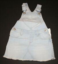 New OshKosh Girls Light Blue Denim Heart Pocket Overalls...
