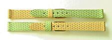 "2x 12mm FLEURUS ""CANDY"" MIX 'N MATCH LIME & MANGO - CALF LEATHER WATCH BANDS"