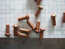 25 Solid copper 3/16 X 1/2 round head rivets Sca armor Larp Steampunk rivet