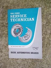 1961 Ford Basic Automotive Brakes Service Forum Tech Manual MORE IN STORE  R