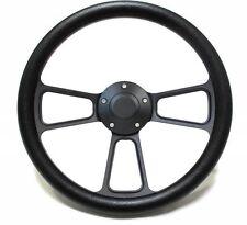 Volkswagen Black Billet Steering Wheel Kit 1960 - 1973 VW Bug  Kharmann Ghia