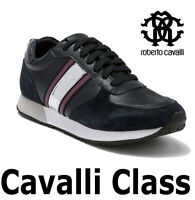 "MEN'S ROBERTO CAVALLI LACE-UP SNEAKER LEATHER ""CAVALLI CLASS"" ESS122 MSRP $495"
