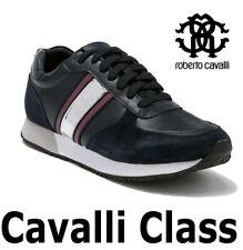 "MEN'S ROBERTO CAVALLI LACE-UP SNEAKER LEATHER ""CAVALLI CLASS"" ESS122 MSRP $495"