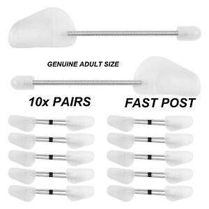 1x - 10x PAIRS OF SHOE TREE TREES MAINTAIN SHAPE SHOES FOOTWEAR PLASTIC WHITE UK