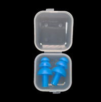 2Pair Swimming Dive Flexible Silicone Ear Plugs Reuseable Water Sport Waterproof