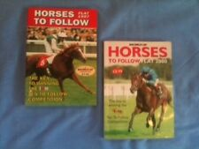 2 RACING POST HORSES TO FOLLOW PAPERBACK BOOKS FLAT SEASONS 1997 2000 EQUESTRIAN