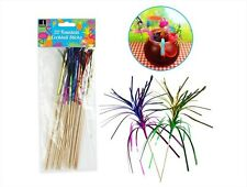 20 FOUNTAIN COCKTAIL STICKS Party Drinks Food Festival Stirrers Pimms Colourful