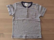 Tee-shirt bleu marine/blanc PETIT BATEAU manches courtes 24 mois