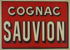COGNAC SAUVION, France, 1920, 250gsm A3 Poster
