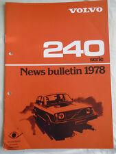 Volvo 240 Series News Bulletin brochure 1978 German text