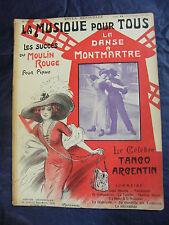 Partition Musique pour tous Moulin Rouge Tango Argentin Music Sheet Grand Format