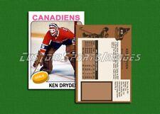 Ken Dryden - Montreal Canadiens - Custom Hockey Card  - 1974-75