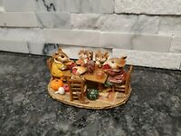 Wee Forest Folk Mouse Family Gathering Thanksgiving M-302 Table Pie Turkey L47