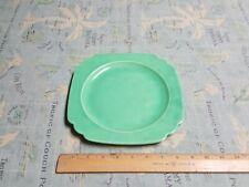 "vintage Fiesta Riviera, Homer Laughlin, 9"" Dinner Plate, Green 1930's"