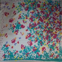 Kenzo authentic pure mulberry silk twill fabric.70 x 70cm. Floral Made in Italy