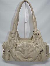 Botkier Beige Soft Leather Pocket Multi Zip Satchel Shoulder Bag