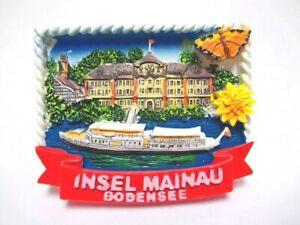 Bodensee Insel Mainau Magnet Poly 7 cm Germany Souvenir (384)