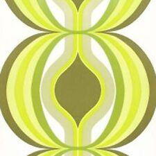 Geometric Minimalist GREEN Vintage Original 1970s 1960s Wallpaper