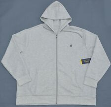 New 6XB 6XL BIG POLO RALPH LAUREN Mens Big Pony Fleece hoodie jacket gray 6X RL