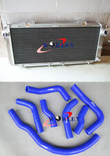 For Toyota MR2 SW20 aluminum alloy radiator 90-97 91 92 93 & SILICONE HOSE BLUE
