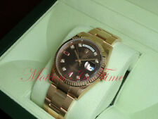 Rolex Day-Date President Pink Gold 36mm Oyster Bracelet Chocolate Dial 118235