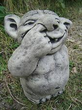 Nose picking troll stone garden ornament <<VISIT MY SHOP>>