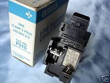 PUSHMATIC 2 Pole  15 Amp BREAKER -  P215 - New in box