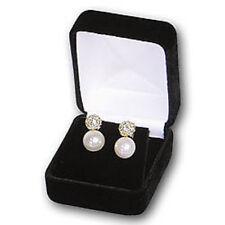 NEW 2 Black Velvet Large Earring pendant Jewelry Gift Boxes
