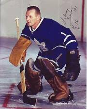 JOHNNY BOWER Signed NHL HOCKEY MAPLE LEAFS Photo w/ Hologram COA