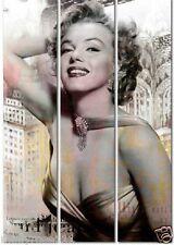Canvas Marilyn Monroe ~ 3 Panel Picture Wall Art Decor Print ~ 60 X 90 X 1.8cm
