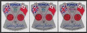 Tonga 1977 QEII Silver Jubilee, Air Post Officials Sc #CO117-119 - cw70.51