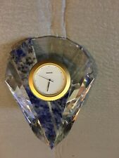 SWAROVSKI CURACAO TABLE CLOCK RARE / RETIRED