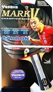 Yasaka MARK V Carbon Flared Handle (Champion Line)  Table Tennis Racket
