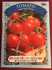 "Vegetable Seeds Gardening Planting ""Tomato� Large Red Cherry American Seed"