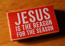 JESUS IS THE REASON FOR THE SEASON Christmas Card Gift Tag Scrapbook Stamp NEW