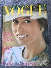 **UK VOGUE MAGAZINE MAY 1973 - PRINCESS ANNE / TWIGGY - EXCELLENT CONDITION**