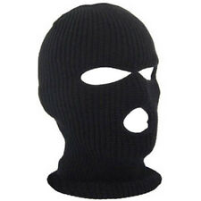 3 Hole Warm Ski Mask Balaclava Black Knit Hat Face Shield Beanie Cap Snow Winter