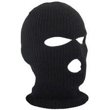 3 Hole Warm Ski Mask Balaclava Black Knit Hat Face Shield Beanie Cap Snow Winter