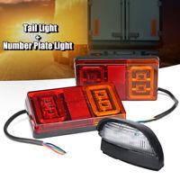 2X Tail Brake Stop LED Light Number Plate Lamp For Marine Trailer Boat Ute