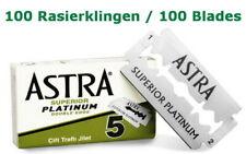 100 Superior Platinum Astra Razor Blades for Safety Razor Double Edge Gillette
