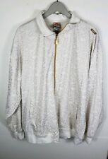 Vintage Johnny Blaze Mens Sweatshirt Jacket Size 2XL White Gold Dice Method Man