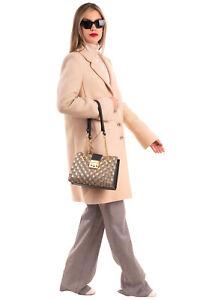 RRP €1650 GUCCI PADLOCK Shoulder Tote Bag GG Logo & Bees Pattern Push Key Lock