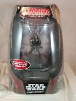 Hasbro Star Wars Die Cast Boba Fett Titanium Limited Edition Vintage Finish