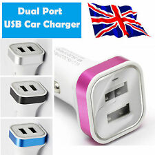 1x Mini Dual USB Port Twin 12V Universal In Car Socket Lighter Charger Adapter