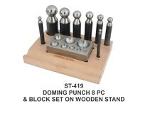 PARUU® 8 Pc Doming Punch and Block Set wooden stand st419